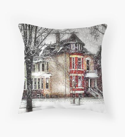 Winter in the City Throw Pillow