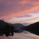 Sunset over Loch Leven by Edward Gunn