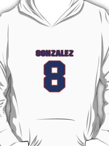 National baseball player Alberto Gonzalez jersey 8 T-Shirt