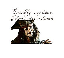 Jack Sparrow Just Doesn't Give a Damn Photographic Print