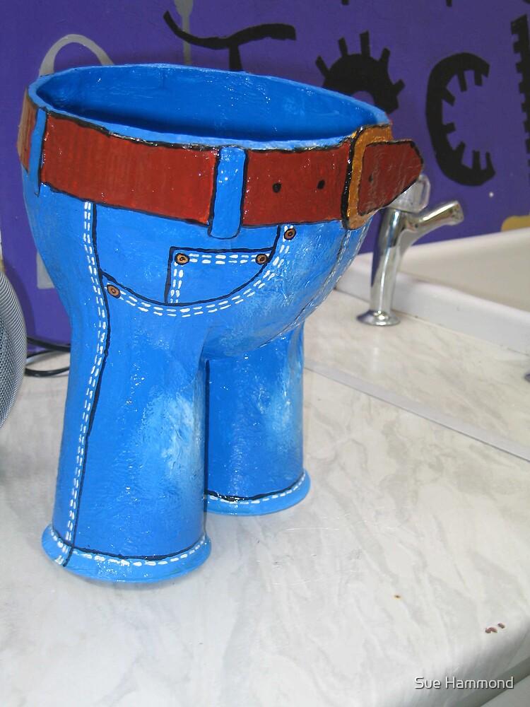 Little blue trousers by Sue Hammond