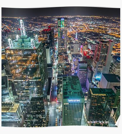 Downtown Dallas From Bank Of America Plaza Rooftop Poster
