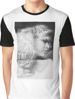 black and white girl portrait Graphic T-Shirt