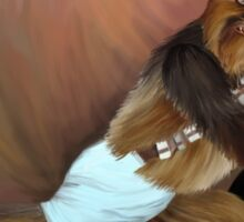 Chewbacca and the Timeless Art of Seduction Sticker