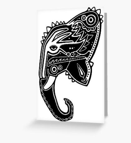 The Travelling Elephant Greeting Card