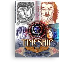 Timeship Anime Poster Canvas Print