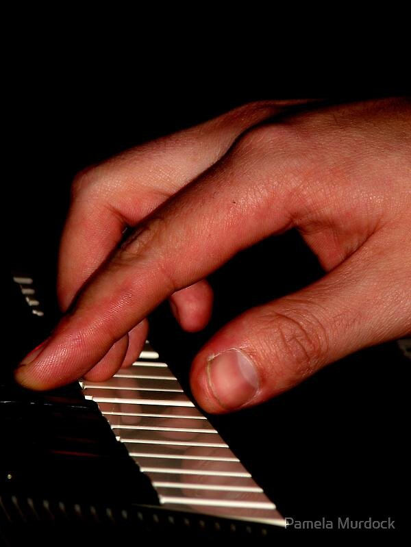 Hand on Keys by Pamela Murdock