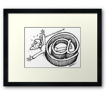 Old age and internet Framed Print