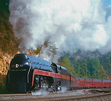 N&W #611 Climbs Christiansburg Mountain Grade - Shawsville, VA by TrainmasterBob
