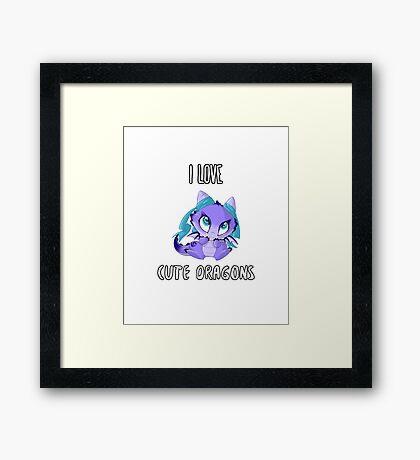 I Love Cute Dragons Framed Print