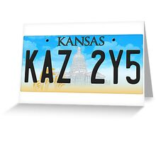 Supernatural Kansas Impala Plate Greeting Card