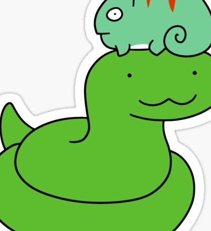Snake and Little Chameleon Sticker