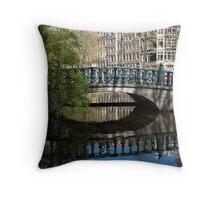 Bridge Reflection Throw Pillow