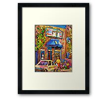 BEAUTIFUL SUMMER SCENE AT THE FAIRMOUNT BAGEL MONTREAL PAINTINGS AND PRINTS Framed Print