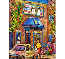 BEAUTIFUL SUMMER SCENE AT THE FAIRMOUNT BAGEL MONTREAL PAINTINGS AND PRINTS Photographic Print