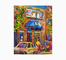 BEAUTIFUL SUMMER SCENE AT THE FAIRMOUNT BAGEL MONTREAL PAINTINGS AND PRINTS Unisex T-Shirt