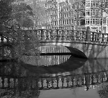 Bridge and it's reflection by Katherine Maguire