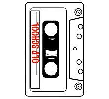 Retro Oldschool Cassette Tape Tees Photographic Print