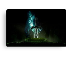 The legend of Zelda - Link sword Excalibur Canvas Print