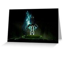 The legend of Zelda - Link sword Excalibur Greeting Card