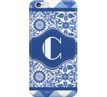 Letter C Monogram in Indigo Patterns iPhone Case/Skin