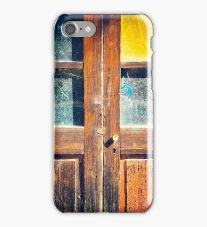 Rotten wooden door detail iPhone Case/Skin