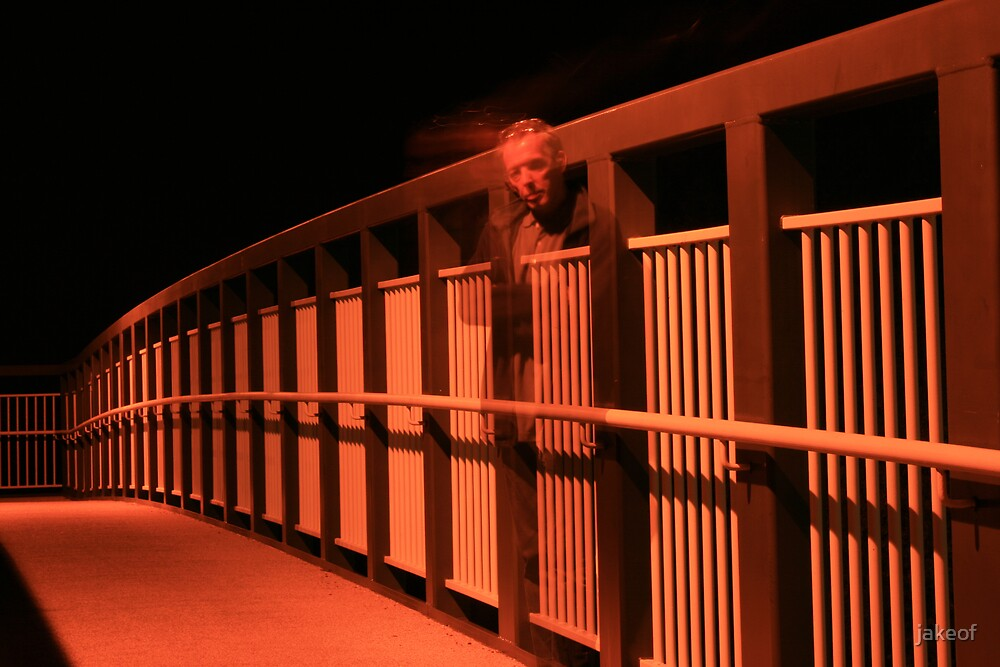 Ghost Of A Bridge Inspector(self portait) by jakeof