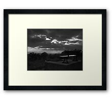 Sit a while Framed Print