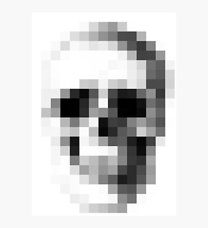 Pixelated Skull (shirt worn by Max) Photographic Print