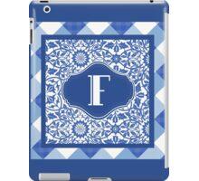 Letter F Monogram in Indigo Patterns iPad Case/Skin