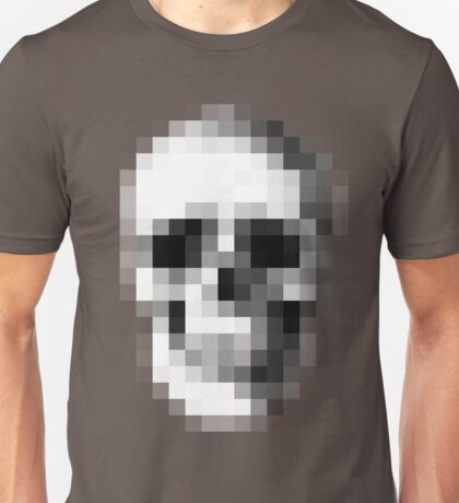 Pixelated Skull (shirt worn by Max) Unisex T-Shirt
