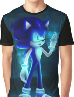 Cool Blue Sonic Graphic T-Shirt