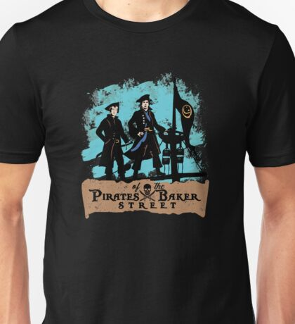 Pirates of the Baker Street. Sherlock and Watson. Unisex T-Shirt