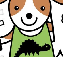 Paleontologist Puppy Dog  Sticker