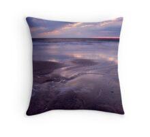 Storm at Sunset Throw Pillow