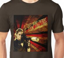 Patience is not one of Pam's virtues Unisex T-Shirt
