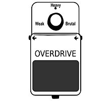 Guitar Stompbox Overdrive Brutal Photographic Print