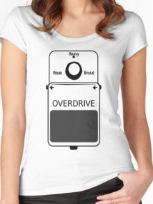 Guitar Stompbox Overdrive Brutal Women's Fitted Scoop T-Shirt