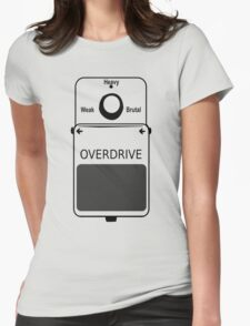 Guitar Stompbox Overdrive Brutal Womens Fitted T-Shirt