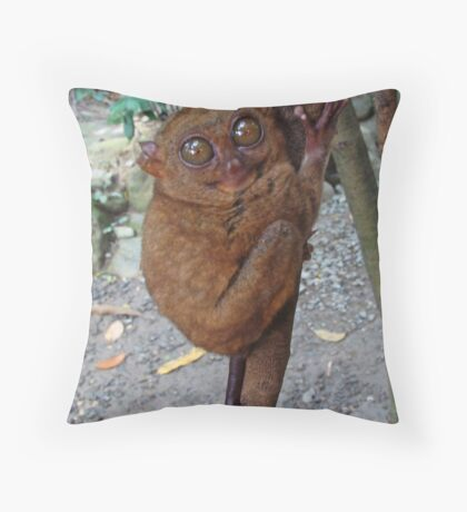 Tarsier Throw Pillow