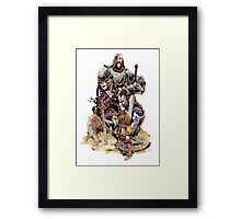 Arya & the Hound Framed Print
