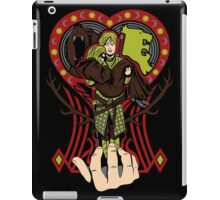 Lion and the maiden fair iPad Case/Skin