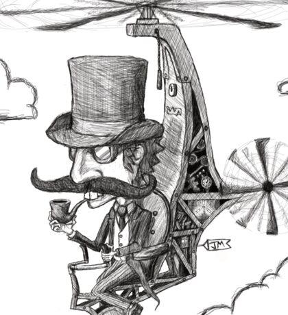 The Gentleman's Wacky Flying Machine Sticker