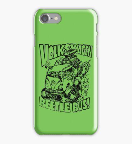Volkswagen Beetle Bus Vintage iPhone Case/Skin