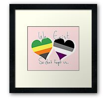 Aromantic / Asexual  Framed Print