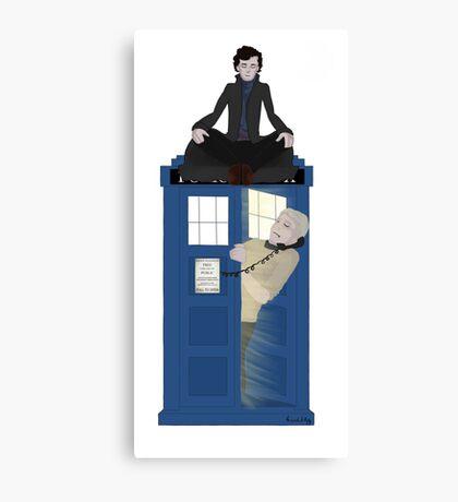 Sherlock - Doctor Who - Wholock Canvas Print