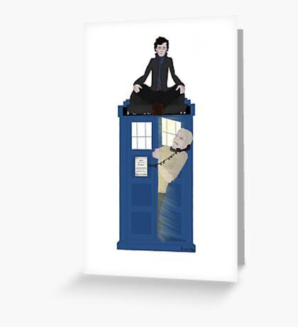 Sherlock - Doctor Who - Wholock Greeting Card