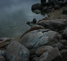 Lake Jindabyne, Mid Winter 2005 by Drew Waddingham