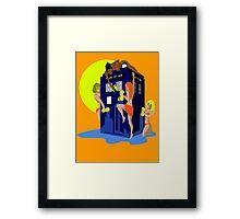 Tardis wash Framed Print