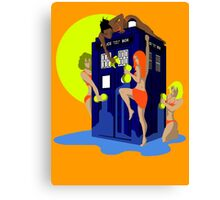 Tardis wash Canvas Print